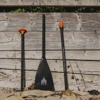 Voll-Carbon Paddel 3- teilig - schwarz orange